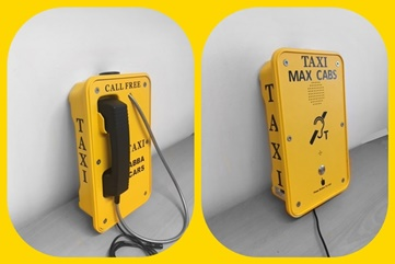 Specialist taxi call point with beacons, sounders and full keypads. Vandal resistand and water tight IP66 strong and robust construction from TaxiTel