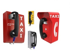 Solid wall mounted taxi telephones, 3G Wireless, VoIP or Analogue
