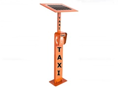 solar powered taxi call telephone 3g, analogue  or voip, Robust and waterproof hotline free phone