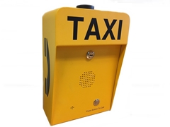 3G analogue or voip battery powered taxi call point for external application, IP66 waterproof and vandal resistant