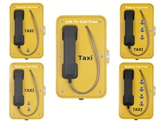 robust taxi handset or speakerphone taxi telephones with or without doors