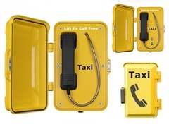 taxi booking free phone with handset and telephone door. Anti-theft and water tight taxi call point.