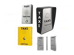wall mounted robust dedicated taxi booking telephones, 3G, voip or analogue