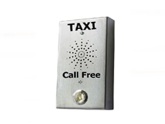 stainless steel vandal resistant taxi telephone 3g wireless or analogue, voip, hotel taxi telephone butler